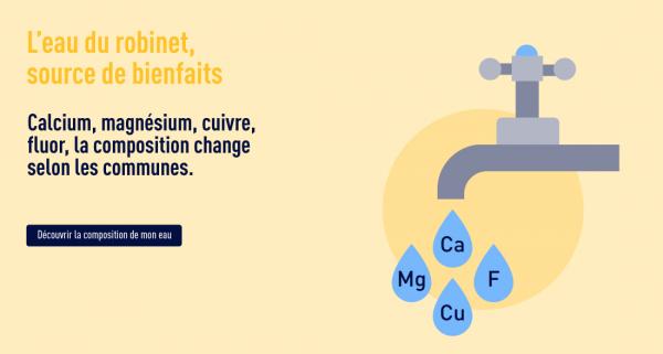 composition eau robinet